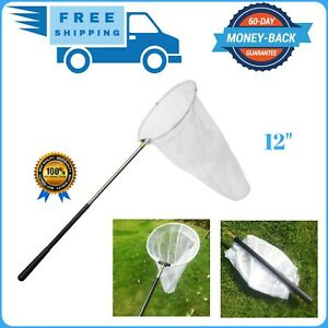 """Trasfit Insect and Butterfly Net with 12"""" Ring and Handle Extends to 59 Inches"""