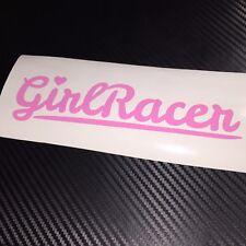 PINK Girl Racer Heart Car Sticker Decal JDM Vdub Drift Track NEW LARGER SIZE