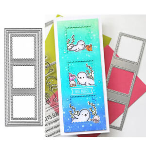 Long Rectangle Frame Cutting Dies Stencil Embossing Scrapbooking Card Craft