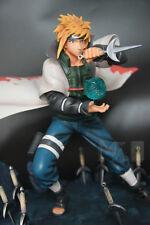 Naruto Yondaime Hokage Namikaze Minato Statue Resin Figures Double-headed -NEW