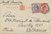 GB 1912 King EVII 1 1/2 D Somerset House uprated on King Georg V 1d Letter Card
