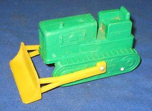 Vintage Galanite Caterpillar Bulldozer Vinyl Toy Vehicle