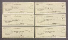 Lot of (6) Rod Serling TWILIGHT ZONE Signed Checks Autographed AUTO