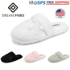 DREAM PAIRS Women Winter Slipper House Soft Memory Foam Faux Fur Lined Slippers
