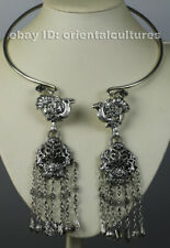 Vintage tribal exotic chinese handmade miao silver necklace