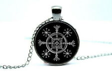 Icelandic Helm of Disguise Sigil - Photo Glass Dome Necklace Pendant Gift