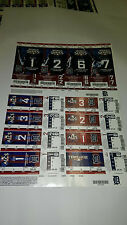 Detroit Tigers World Series Tickets Full Sheet 2009 Never Played In