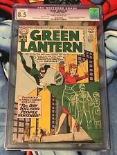 GREEN LANTERN #7 CGC 8.5 1st App Origin SINESTRO Gil Kane SILVER AGE DC JORDAN
