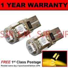 W5W T10 501 Canbus Nessun Errore COLOR AMBRA 5 LED CORTESIA LAMPADINE x 2 HID