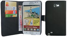 Extra Fine Leather Wallet Flip Case Cover For Samsung Galaxy Note i9220 N7000