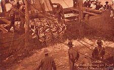 SALMON FISHING ON PUGET SOUND, WA 1912