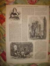 1856 ANTIQUE PRINT VENICE ITALY MEXICO NATIVE INDIAN NR