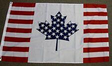 USA CANADA FRIENDSHIP FLAG 3X5 AMERICAN CANADIAN F453