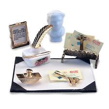 Reutter Porzellan Schreibtisch Set / Desk Set Puppenstube 1:12 Art. 1.849/8