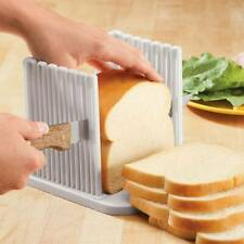 Home Bread Slice Toast Sanwich Slicer Guide Cutter Slicing Cutting Sheet Kitchen