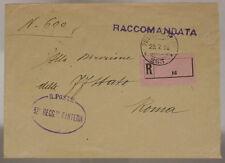 POSTA MILITARE 263 28.7.1918 RACCOMANDATA TIMBRO 52° REGGIMENTO FANTERIA #XP500D