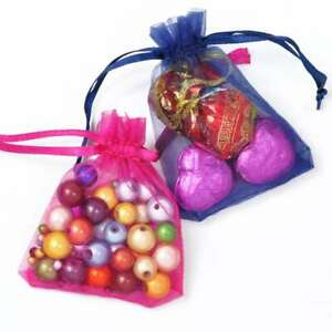 20/40/60pcs 7x9cm Premium Organza Gift Bags Rectangle Jewellery Pouches CABB1