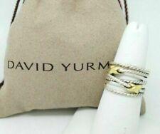 David Yurman Women's Sterling Silver & 18k Gold Double X Crossover Ring