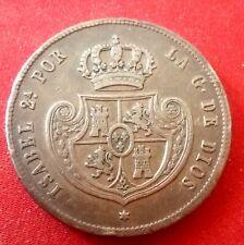 1/2 real 1848 Madrid isabel II cinco decimas