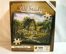 """Jigsaw Puzzle 500 pc. Cottage """"Edge of the Woods"""" by Ann Stookey 18x24"""