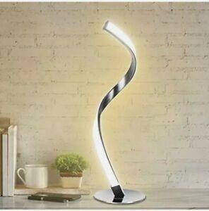 Modern Spiral Table Lamp for Living Room, LED Brightness Dimmable Bedside Lamp 3