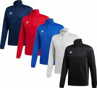 Adidas Mens Core 18 Collar Zip Top Polyester Football Sport Gym Jacket