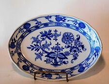 Antique Blue Onion Plate Platter B. W.M. & Co Cauldon England 1895-1904 MEISSEN