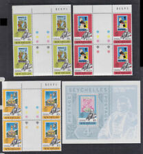 Seychelles 1979 Mint MNH Full Set MS SPECIMEN Rowland Hill Penny Post Blocks 4