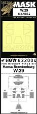 HGW 1:32 Hansa Brandenburg W.29 for Wingnut Wings  Paint Mask Detail Set #632004