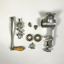Universal No. 2 Food Chopper Meat Grinder Hand Crank Wood Handle with Box LFC