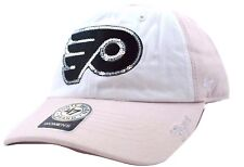 Philadelphia Flyers 47 BRAND Women's Glitter Team Logo Hockey Cap Hat