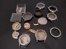 LOTTO di Vintage Orologio parti OMEGA ZENITH eternamatic RICAMBI 1466U Stile Militare