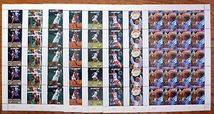 St VINCENT Wholesale 1987 Tennis 8 Values in Sheetlets of 20 U/M NB807