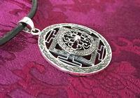 AMULETT - ANHÄNGER Nepal KALACHAKRA MANDALA 925er Silber, sehr feine Handarbeit