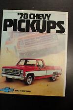 '78 Chevy Pickups Chevrolet 1978 Sales Literature Book