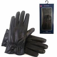 LADIES GENUINE REAL LEATHER LINED GLOVES BOXED DRIVING WINTER WARM XMAS GIFT