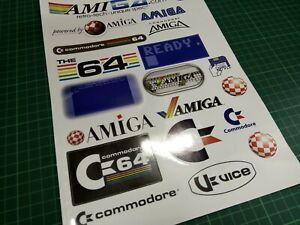 Commodore 64 & Amiga A4 Vinyl Sticker Sheet of 20 Stickers
