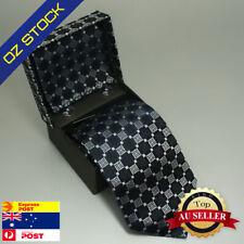 Blue Black Plaids Necktie Mens Business Silk Tie Hanky Cufflinks Set Y&G BH1027