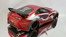 1/18 TOYOTA SUPRA VEILSIDE APEXI Import Racer Die-cast Modified Damaged Wing