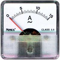 Amperometro analogico ferro mobile 0 - 15 A corrente alternata CA AC cod. 4913