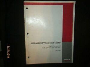 CASE - IH 8825 & 8825HP Windrower Tractor Operator`s Manual Original OEM 1998