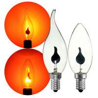 E27 E14 FLICKER Fire Flame Candle Light Bulb Atmosphere Xmas Decor Lamps NEW