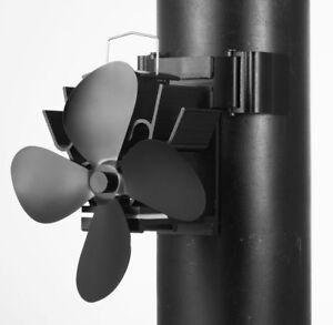 EcoFlow Heat Powered Stove/log Wood Coal Burner Fan new for 2022 Flue Pipe Fan