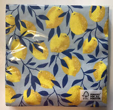 Paper Napkins 20 Lemons Design Paper Napkins 3 Ply Any Occasion.