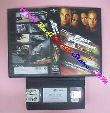 VHS film FAST AND FURIOUS 2001 Vin Diesel Paul Walker Rodriguez (F148) no dvd
