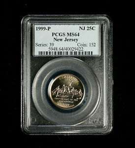 1999 P New Jersey Statehood Quarter PCGS MS 64