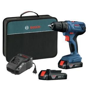Bosch GSR18V-190B22-RT 18V 1/2 in. Drill Kit Certified Refurbished
