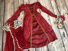 Red Princess Queen Hearts Alice in Wonder Costume Halloween 6 7 8 Jewelry