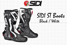 SIDI STIVALI ST RACING BOOTS- BLACK WHITE - EU 39 US 6
