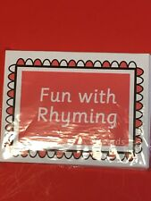 Preschool Learning Fun with Rhyming - FUN WITH LEARNING FLASH CARDS